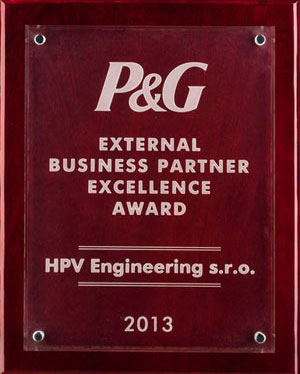 P&G Supplier of Excellence prize 2013